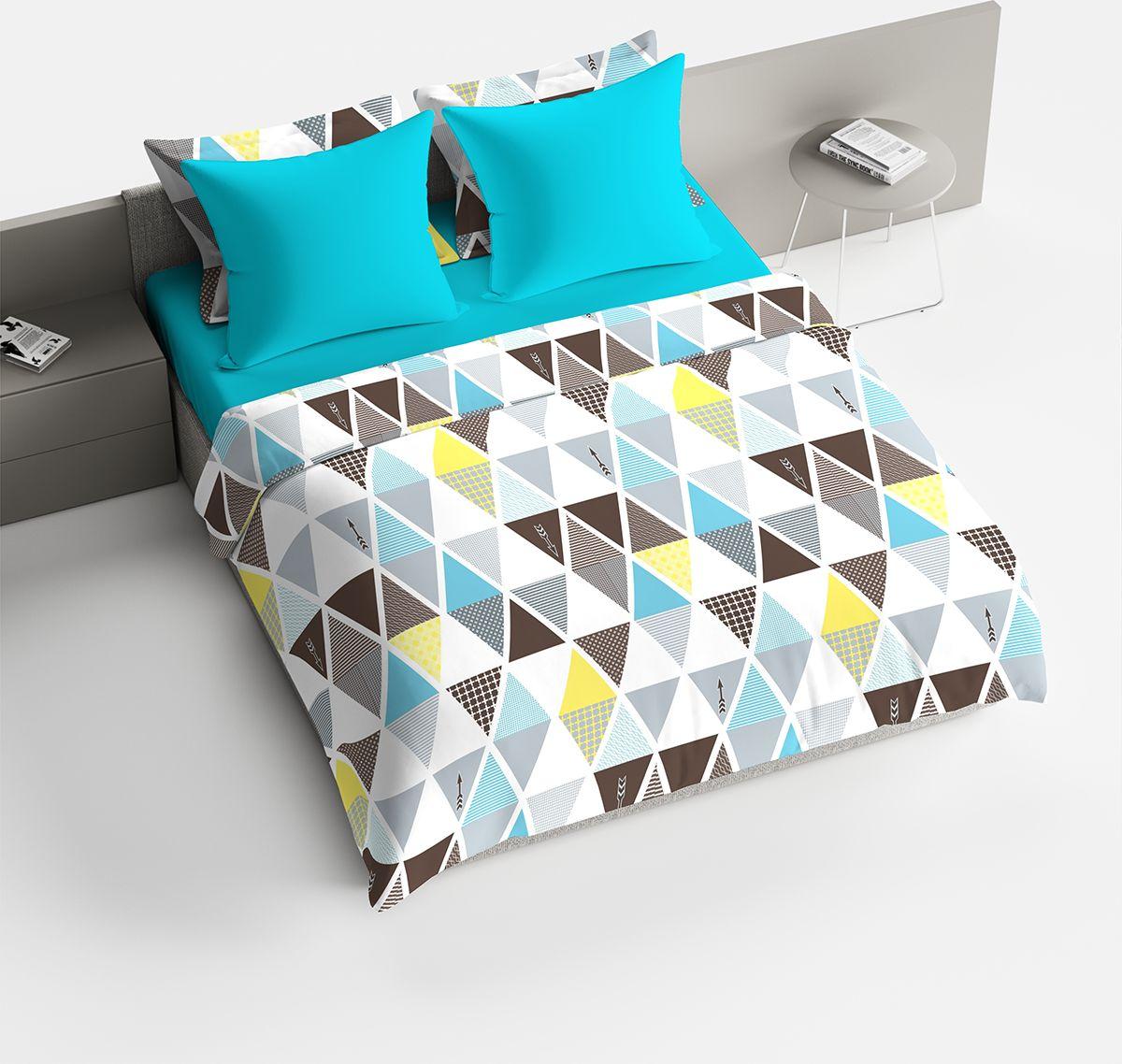 Комплект белья Браво Леонард, 2-спальное, наволочки 70x70, цвет: голубой91932Комплекты постельного белья из ткани LUX COTTON (высококачественный поплин), сотканной из длинноволокнистого египетского хлопка, созданы специально для людей с оригинальным вкусом, предпочитающим современные решения в интерьере. Обновленная стильная упаковка делает этот комплект отличным подарком. • Равноплотная ткань из 100% хлопка; • Обработана по технологии мерсеризации и санфоризации; • Мягкая и нежная на ощупь; • Устойчива к трению; • Обладает высокими показателями гигроскопичности (впитывает влагу); • Выдерживает частые стирки, сохраняя первоначальные цвет, форму и размеры; • Безопасные красители ведущего немецкого производителя BEZEMA