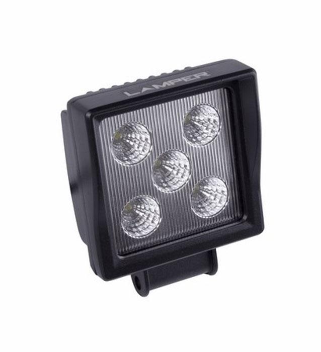 Фара автомобильная Lamper, светодиодная, 15 W80-1170Напряжение: 12-30 Вольт Мощность одного светодиода: 3W Модель светодиода: CREE Кол-во светодиодов: 5 шт. Световой поток: 1080 Люмен Температура свечения: 5500 Кельвинов Рабочий ток при 12/24V: 2,5/1,25A Световой поток: направленный Подключение: водонепроницаемый разъём 2pin Крепление: болт 10мм Виброустойчивость: 10-2000Hz Линзы: ударопрорчный поликарбонат Корпус: алюминиевый сплав Размеры: 110 x 144 x 60 Пыле-влагозащищенность: IP-67 (6-полная защита от пыли,8K-полная защита от воды, выдерживает высокое давление воды во время мойки) Рабочая температура: от -40С до +105С Срок службы: 50 000 часов