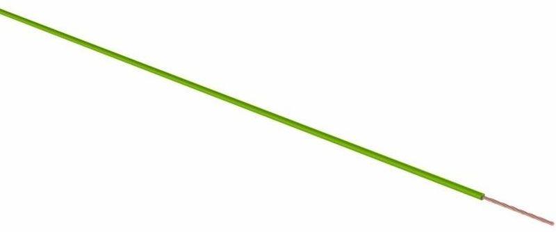 Провод ПГВА Rexant, цвет: зеленый, 1 х 2,5 кв. мм, длина 100 м01-6543Провод ПГВА REXANT предназначены для гибкого соединения автотракторного электрооборудования и приборов с номинальным напряжением до 48 В, изготавливаются для автомобильной проводки и элементов питания и управления. Состоит из многожильной токопроводящей жилы с поливинилхлоридной изоляцией. Расшифровка провод ПГВА - П - Провод, Г - Гибкий, В - Изоляция из поливинилхлоридного пластиката, А - Автотракторный. Технические характеристики: - номинальное напряжение - до 48 В - электрическое сопротивление изоляции на длине 1 км - не менее 3,0 мОм - изоляция жилы из ПВХ пластиката - расцветка провода имеет сплошную расцветку - класс гибкости 3 - минимальный радиус изгиба, не менее 10-кратного значения минимального размера провода - предельно допустимая рабочая температура -50°С до + 70°С - срок службы до 15 лет