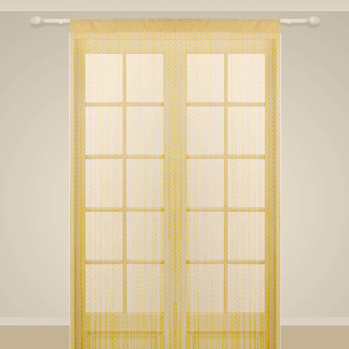 Штора нитяная Sanpa Home Collection, на ленте, цвет: золотистый, высота 290 см. SP102SP 102/GOLD, , 150*290 см