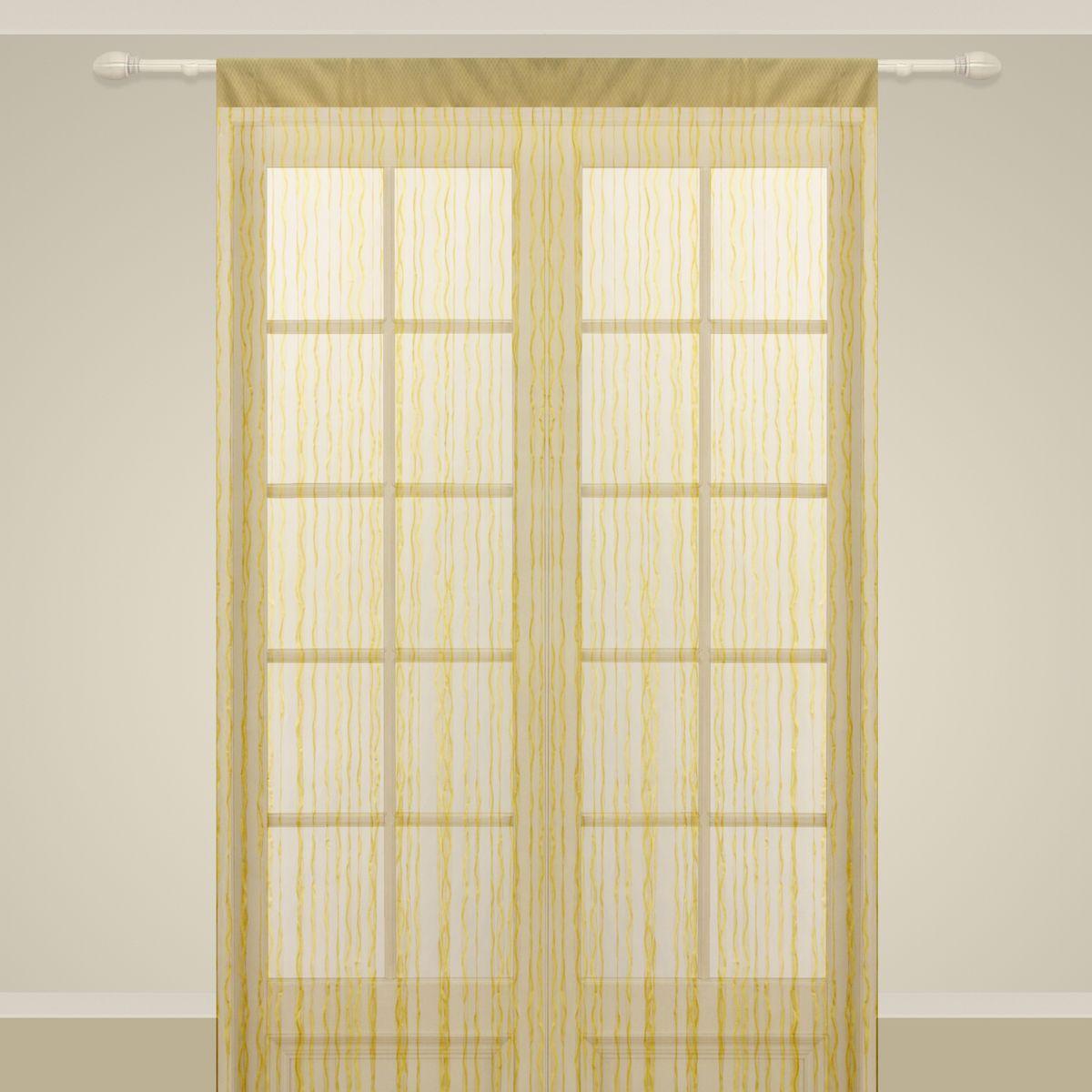 Штора нитяная Sanpa Home Collection, на ленте, цвет: золотистый, высота 290 см. SP104SP 104/GOLD, , 150*290 см