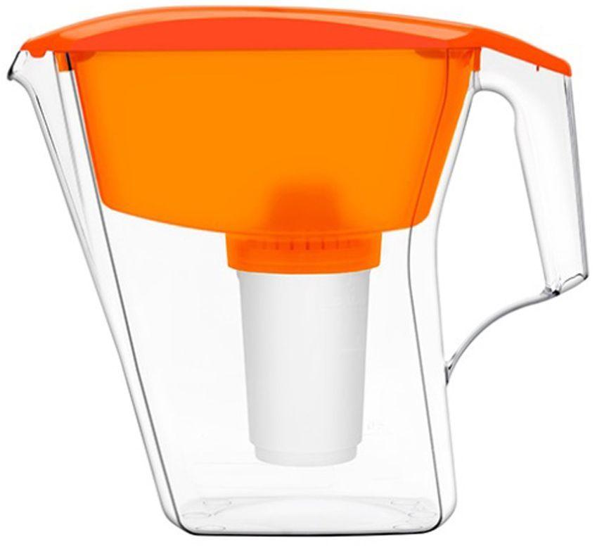 Фильтр-кувшин для воды Аквафор АРТ, цвет: оранжевый, 2,8 лАРТ (оран.)Аквафор Арт – фильтр-кувшин с оптимальным соотношением объёмов воронки и кувшина Надёжно и необратимо удаляет вредные примеси из питьевой воды. Помещается на стенку холодильника, так что вода дольше остается свежей. Как и любой фильтр-кувшин, Аквафор Арт не требует подключения к водопроводу и может использоваться в любом, удобном для Вас месте. Все части фильтра изготовлены из высококачественного пищевого пластика немецкого производства. Аквафор Арт комплектуется универсальным сменным модулем В5 (В100-5), но к нему подходят и другие сменные модули Аквафор: В6 (В100-6) – сменный модуль для жесткой воды; В7 (В100-7) – сменный модуль, сохраняющий исходный минеральный состав воды; В8 (В100-8) – cменный модуль для чрезмерно хлорированной воды. В мае 2015 года Stiftung Warentest – институт тестирования потребительских товаров в Германии, учрежденный Министерством экономики Германии, – сравнил качество водоочистителей, реализуемых на рынке Германии.По результатам...