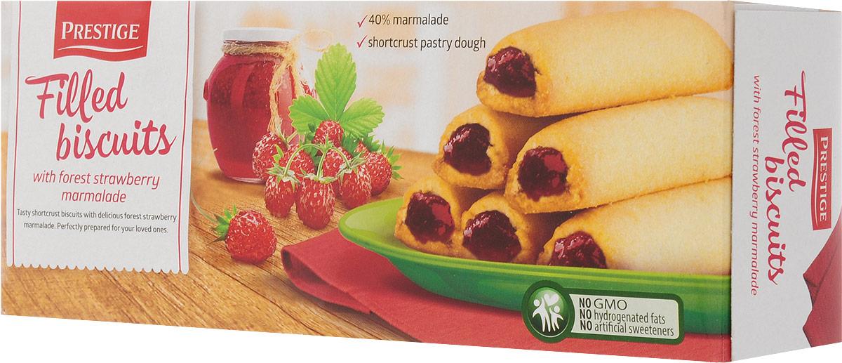 Prestige Бисквитное печенье с земляничной начинкой, 165 г3.58.11Бисквитное печенье Prestige с начинкой из земляники подарит массу удовольствия, зарядит энергией и бодростью с утра и на целый день.