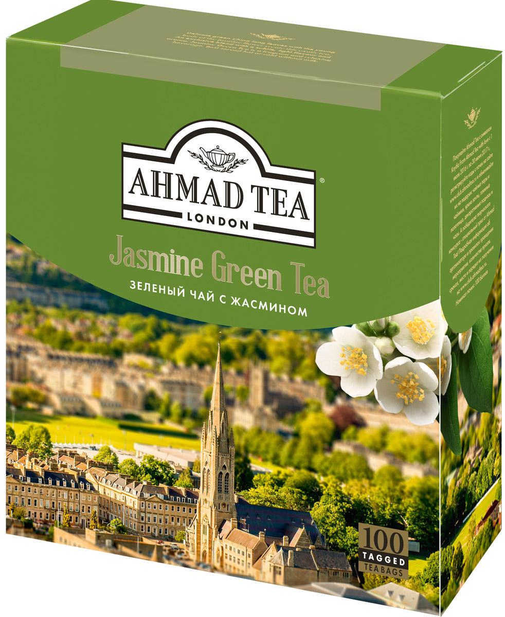 Ahmad Tea зеленый чай с жасмином в пакетиках, 100 шт475-08Ahmad Jasmine Green Tea - деликатный купаж китайского длиннолистового чая с бутонами и цветами жасмина. При заваривании дает настой золотисто-зеленого цвета со сладким вкусом и ароматом жасмина, и тонким ореховым послевкусием. Заваривать 3-5 минут, температура воды 90°С. Уважаемые клиенты! Обращаем ваше внимание на то, что упаковка может иметь несколько видов дизайна. Поставка осуществляется в зависимости от наличия на складе.
