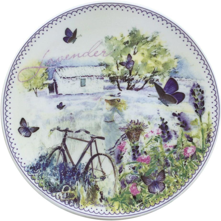Набор тарелок GiftnHome Лаванда, диаметр 20,5 см, 4 штPL-20S ЛавандаТарелка из костяного фарфора, набор упакован в картонную коробку