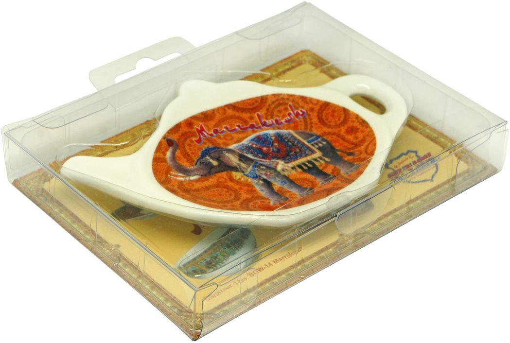 Подставка GiftnHome Marrakesh, под чайные пакетикиTB-MarrakeshБлюдце из фарфора, упаковка PVC