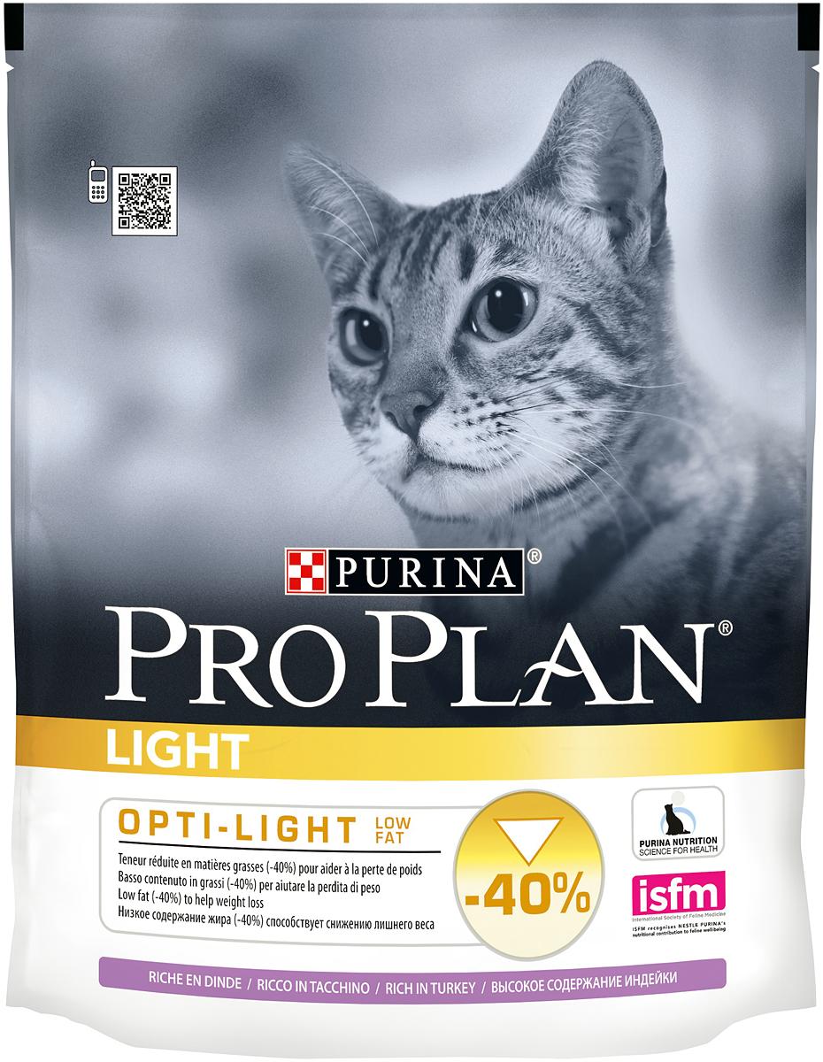 Корм сухой Pro Plan Light для взрослых кошек с избыточным весом, с индейкой и рисом, 400 г5115225Сухой корм Pro Plan Light - это полноценный рацион для взрослых кошек с избыточным весом и склонных к полноте. Он содержит особую разработанную с участием ученых комбинацию ингредиентов для поддержания здоровья вашего питомца в течение продолжительного времени. Особенности сухого корма: низкое содержание жира, высокие вкусовые свойства, делает шерсть шелковистой и блестящей, усвояемость белка выше 85%. Состав: индейка (16%), кукурузный глютен, рис, соя, пшеничный глютен, кукуруза, сухой белок птицы, пшеница, мякоть свеклы, рыбий жир, животный жир, вкусоароматическая кормовая добавка, дрожжи, яичный порошок, минеральные вещества, витамины. Анализ: белок: 38%, жир: 9%, сырая зола: 6%, сырая клетчатка: 3,2%. Добавки на кг: витамин А: 35 200; витамин D3: 1140; витамин Е: 670 мг/кг; железо: 237; йод: 3; медь: 47; марганец: 113; цинк: 400; селен: 0,28 мг/кг. Товар сертифицирован.