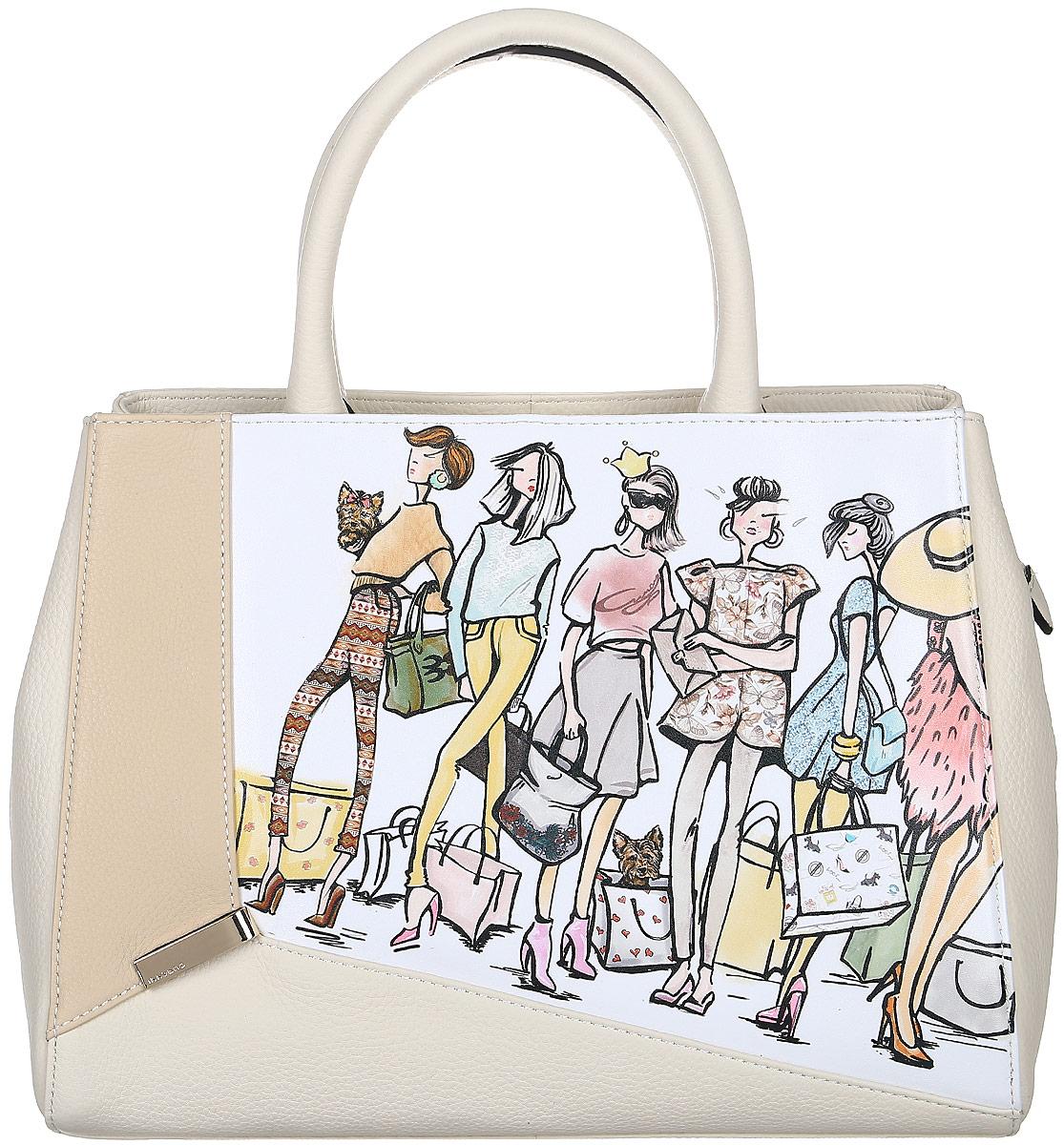 Сумка жен Curanni Пупа, цвет: бежевый. 20442044Элегантная сумка итальянского бренда Curanni от известной дизайнерской студии Sepani lab, сделана из натуральной кожи. Такая модель превосходно дополнит любой образ. Благодаря хорошей вместительности будет очень удобна для повседневного использования, что по достоинству оценит любая девушка. Внутри: один карман на потайной молнии, подойдет для документов или мелочей, другие два кармана без молнии также подойдут для мелочей или мобильного телефона. Внутри сумки два отдела разделенные карманом на молнии. Снаружи: кармана на тыльной стороне сумочки на молнии.
