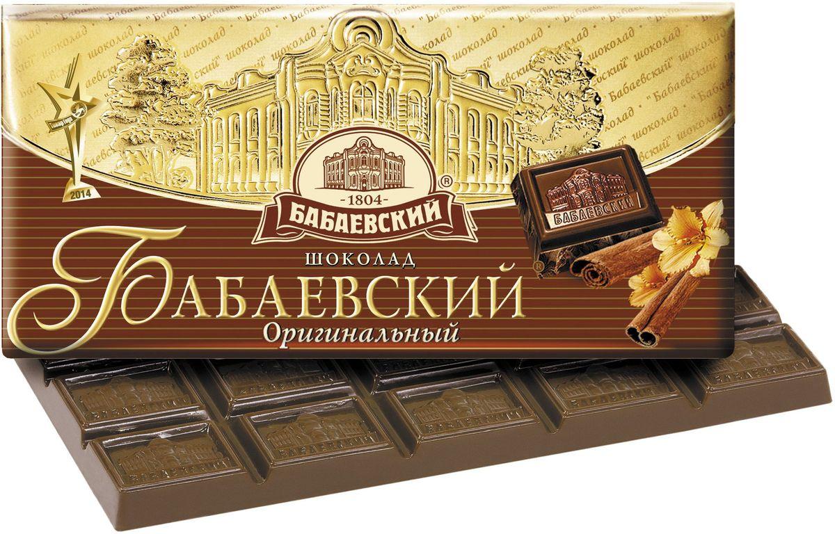 Бабаевский оригинальный темный шоколад, 100 г ББ00019