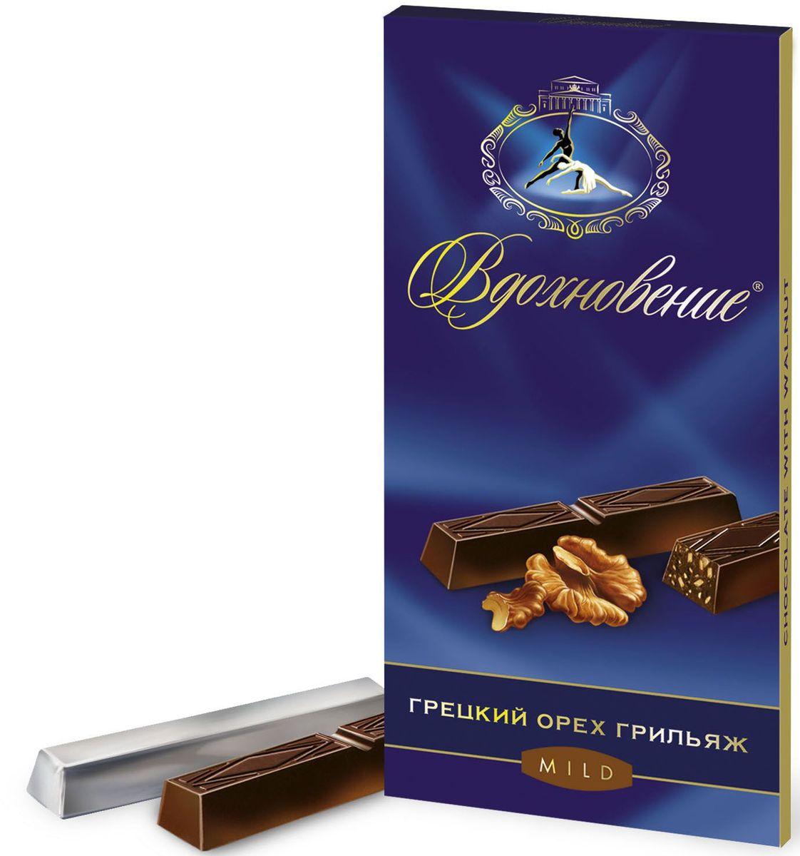 Бабаевский Вдохновение грецкий орех грильяж темный шоколад, 100 гББ10910Гордость бренда Бабаевский - высококачественный темный шоколад, созданный с использованием отборных какао бобов и какао масла.