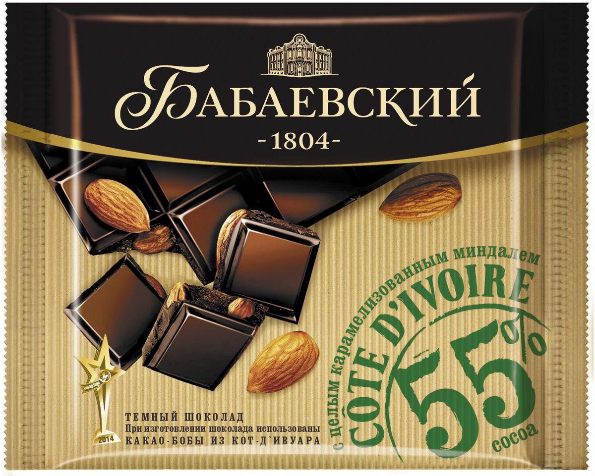 Бабаевский темный Cote d'Ivoire с карамелизованным миндалем темный шоколад, 90 г