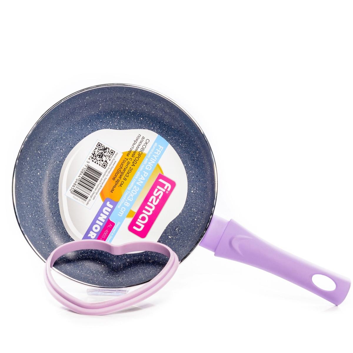 Сковорода Fissman Junior, с антипригарным покрытием. Диаметр 20 см + формочка для яичницыAL-4865.20_сиреневыйСковорода Fissman Junior, с антипригарным покрытием. Диаметр 20 см + формочка для яичницы