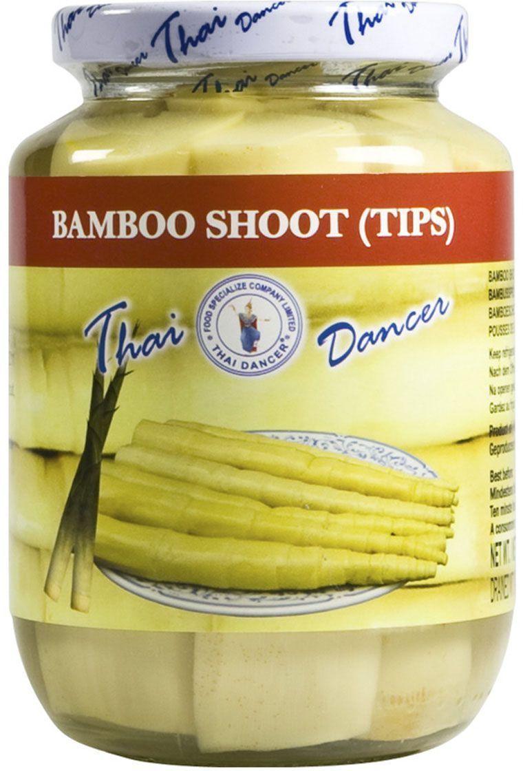 Thai Dancer Побеги бамбука, 454 гFS0015005Побеги бамбука используются в большом количестве блюд китайской, японской, корейской, тайской и вьетнамской кухни. Настоящая экзотика, которая придают блюдам, приготовленным на воке, аромат и хрустящую текстуру.