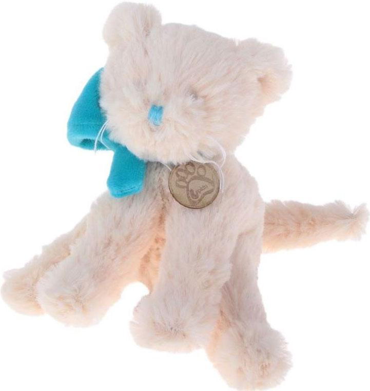 Sima-land Мягкая игрушка Кот Lapkin цвет бежевый бирюзовый 15 см