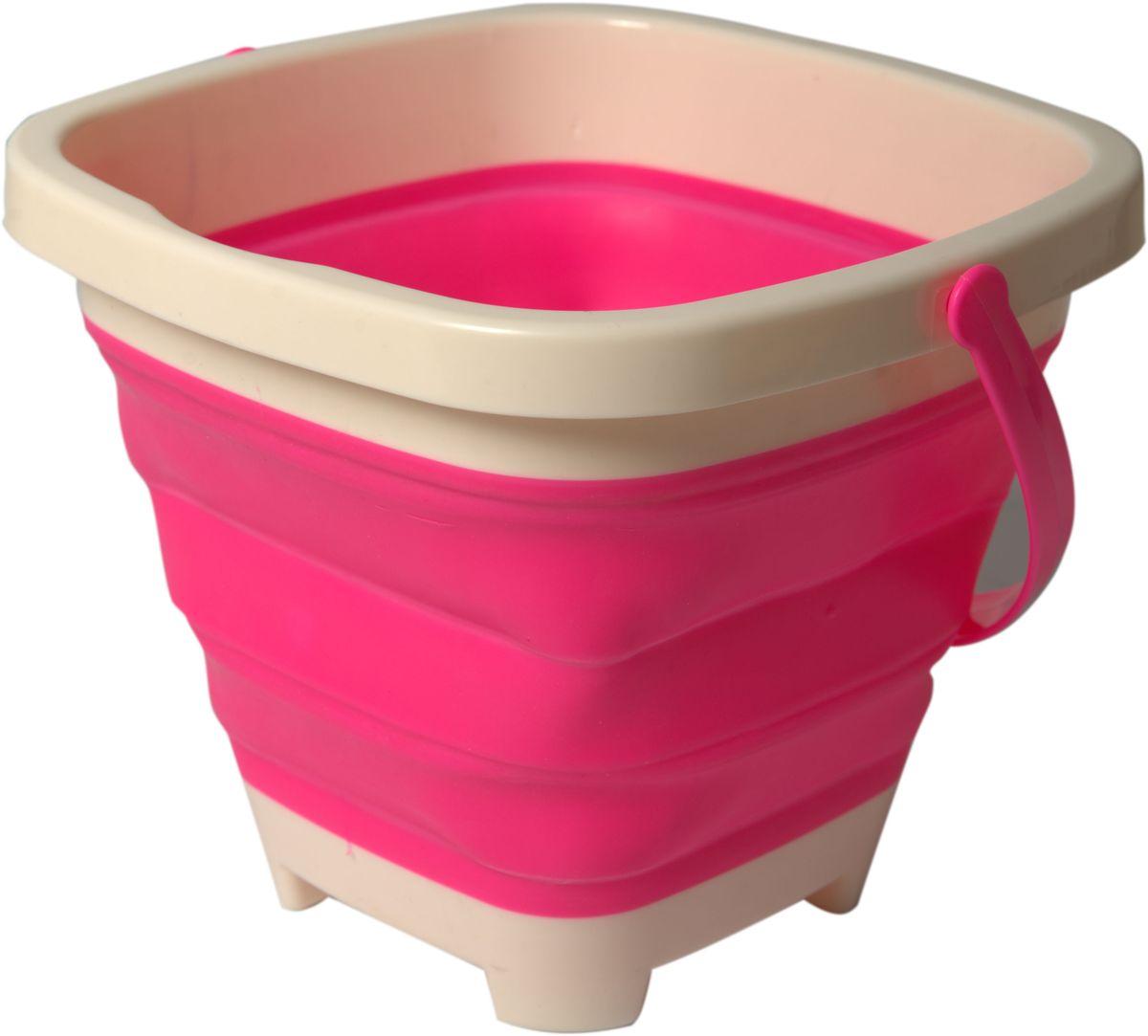 Fresh Trend Игрушка для песочницы Ведро складное цвет розовый  недорого