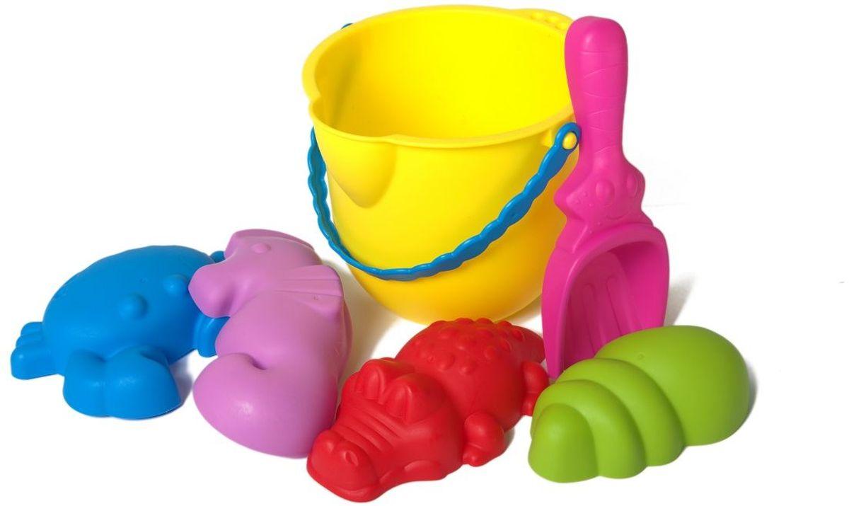 Baby Trend Набор для песочницы 6 предметов цвет ведра желтый  недорого