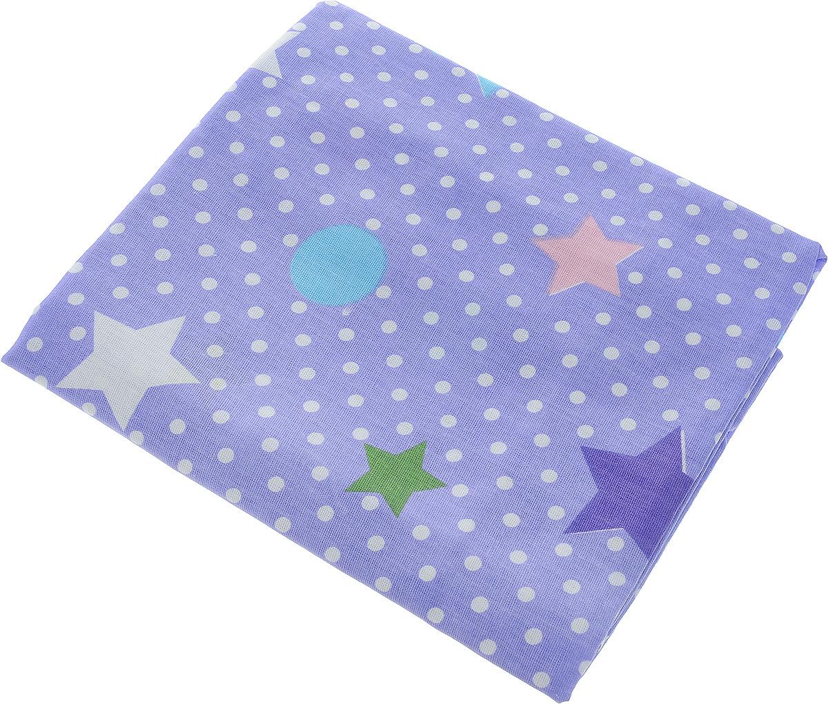 Bonne Fee Простыня детская Совы цвет фиолетовый 70 х 120 см