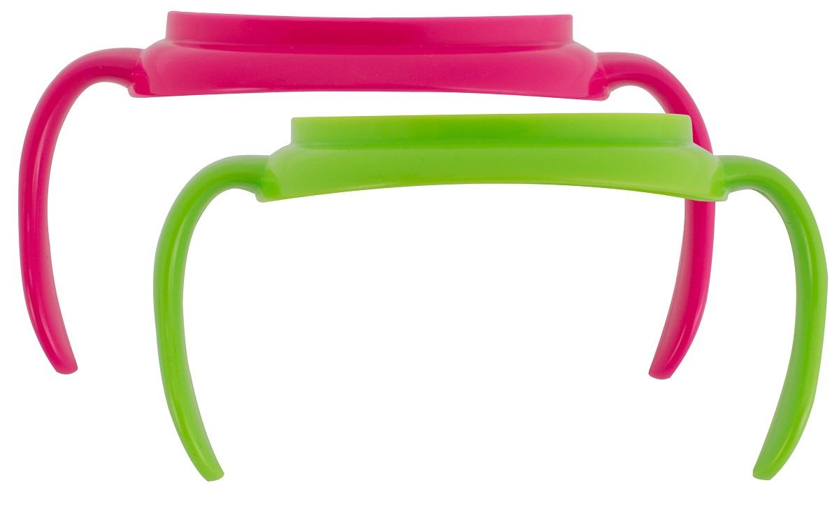 Dr.Browns Набор ручек для поильников цвет зеленый розовый 2 шт
