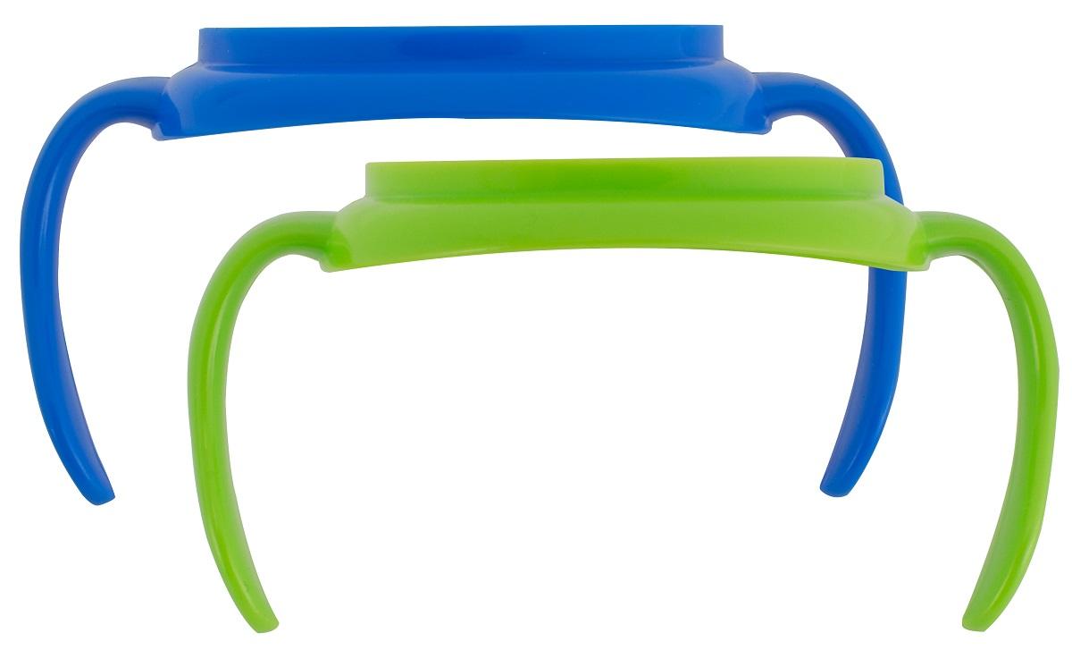 Dr.Browns Набор ручек для поильников цвет синий зеленый 2 шт