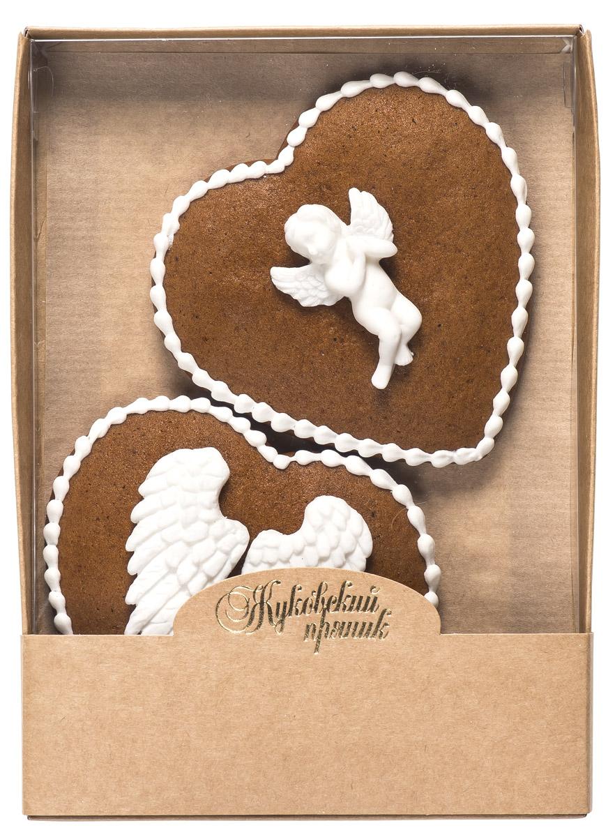 Жуковский пряник Подарочный набор Поцелуй ангела, 95 г00-00002544Медово-имбирные пряники с росписью из айсинга и декором из мастики. Чудесный набор пряного, медово-имбирного печенья, с романтичным, красивейшим декором , созданный специально для вас и ваших любимых ко Дню Святого Валентина! Набор таких пряничков непременно порадует ваших близких и станет отличным подарком к самому романтичному празднику! Уважаемые клиенты! Обращаем ваше внимание, что полный перечень состава продукта представлен на дополнительном изображении.