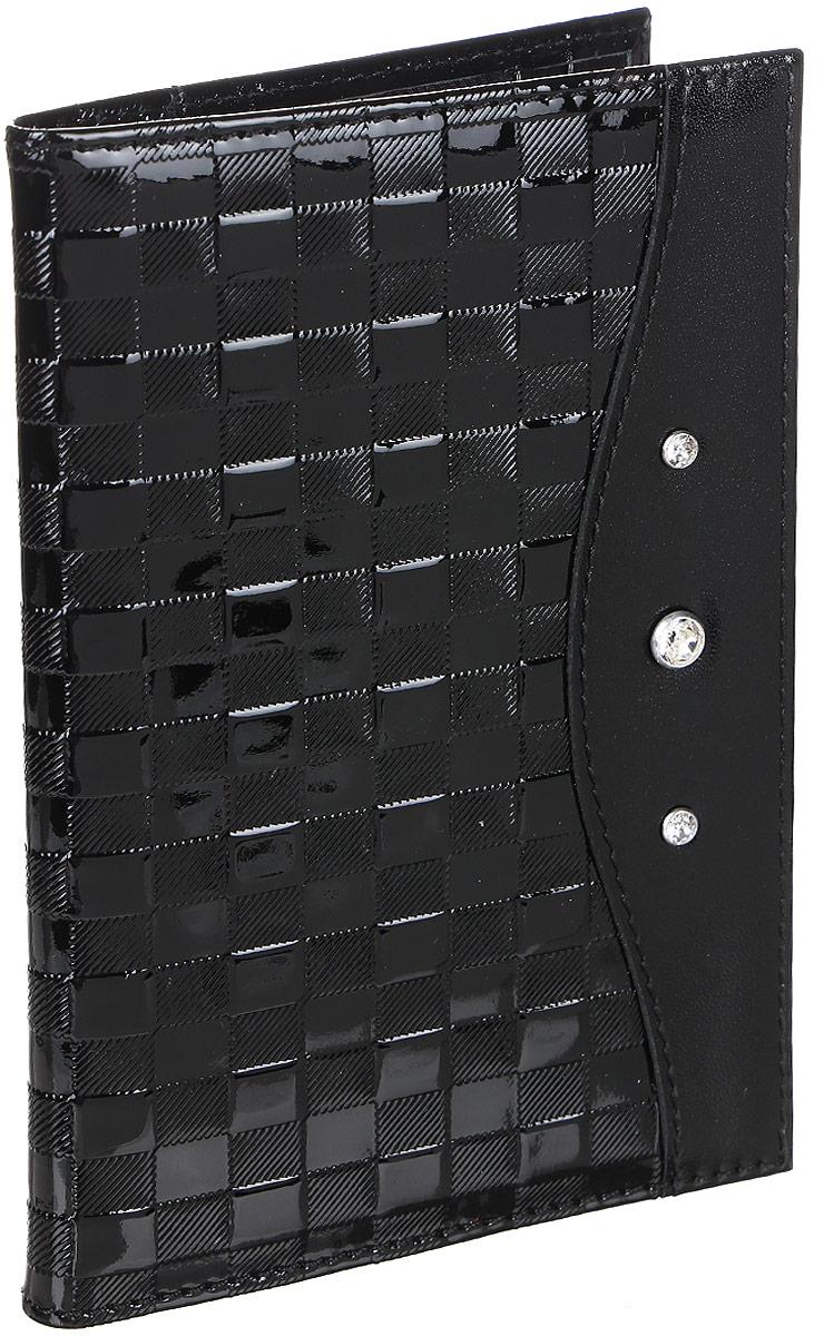 """Обложка для паспорта женская Elisir """"Botega black"""", цвет: черный. EL-LK269-OP0031-000"""