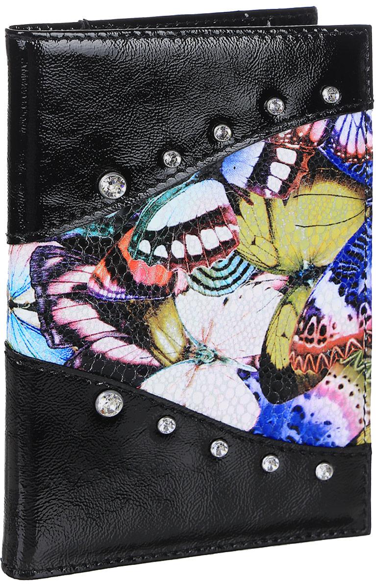 """Обложка для паспорта Elisir """"Butterfly"""", цвет: черный. EL-NK271-OP0031-000"""