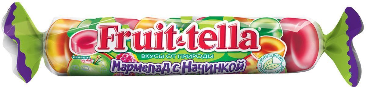 Fruittella жевательный мармелад с фруктовой начинкой, 52 г