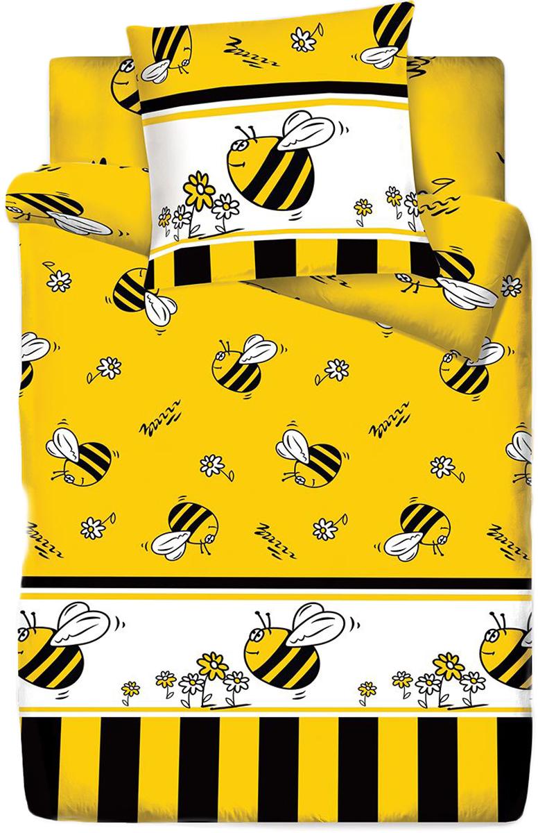 Комплект белья Браво Кидс Пчелы, 1,5-спальное, наволочки 70x70, цвет: желтый67046BRAVO Kids Dreams - линейка постельного белья для детей и подростков из прекрасной ткани LUX COTTON (высококачественный поплин). Это современные забавные и яркие дизайны, которые украсят любой интерьер детской комнаты и долго будут радовать своих обладателей высоким качеством и отличным внешним видом. • Равноплотная ткань из 100% хлопка; • Обработана по технологии мерсеризации и санфоризации; • Мягкая и нежная на ощупь; • Устойчива к трению; • Обладает высокими показателями гигроскопичности (впитывает влагу); • Выдерживает частые стирки, сохраняя первоначальные цвет, форму и размеры; • Безопасные красители ведущего немецкого производителя BEZEMA • Лауреат премии Золотой медвежонок