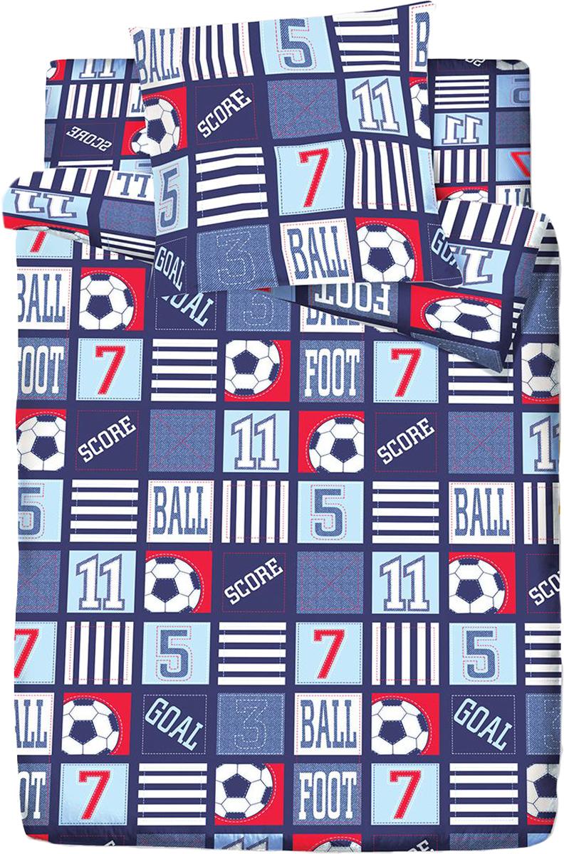 Комплект белья Браво Кидс Матч, 1,5-спальное, наволочки 70x70, цвет: синий68577BRAVO Kids Dreams - линейка постельного белья для детей и подростков из прекрасной ткани LUX COTTON (высококачественный поплин). Это современные забавные и яркие дизайны, которые украсят любой интерьер детской комнаты и долго будут радовать своих обладателей высоким качеством и отличным внешним видом. • Равноплотная ткань из 100% хлопка; • Обработана по технологии мерсеризации и санфоризации; • Мягкая и нежная на ощупь; • Устойчива к трению; • Обладает высокими показателями гигроскопичности (впитывает влагу); • Выдерживает частые стирки, сохраняя первоначальные цвет, форму и размеры; • Безопасные красители ведущего немецкого производителя BEZEMA • Лауреат премии Золотой медвежонок