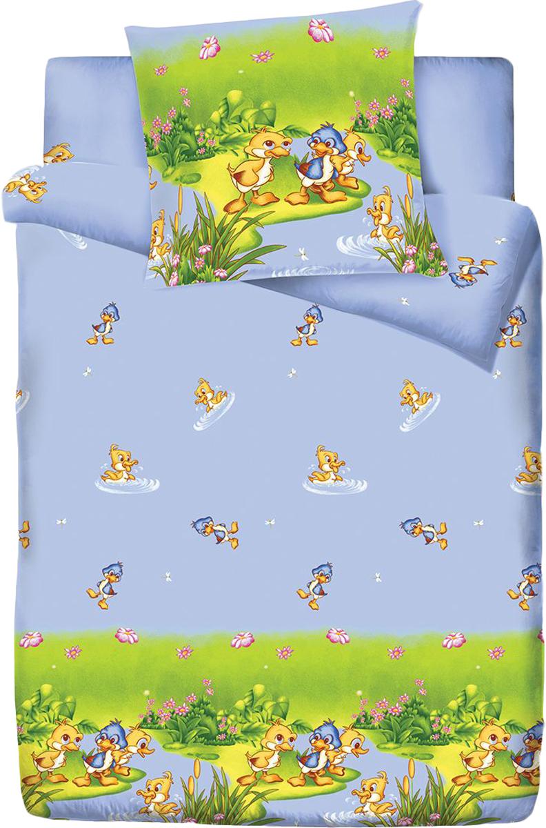 Комплект белья Браво Кидс Duck, 1,5-спальное, наволочки 70x70, цвет: голубой70345BRAVO Kids Dreams - линейка постельного белья для детей и подростков из прекрасной ткани LUX COTTON (высококачественный поплин). Это современные забавные и яркие дизайны, которые украсят любой интерьер детской комнаты и долго будут радовать своих обладателей высоким качеством и отличным внешним видом. • Равноплотная ткань из 100% хлопка; • Обработана по технологии мерсеризации и санфоризации; • Мягкая и нежная на ощупь; • Устойчива к трению; • Обладает высокими показателями гигроскопичности (впитывает влагу); • Выдерживает частые стирки, сохраняя первоначальные цвет, форму и размеры; • Безопасные красители ведущего немецкого производителя BEZEMA • Лауреат премии Золотой медвежонок