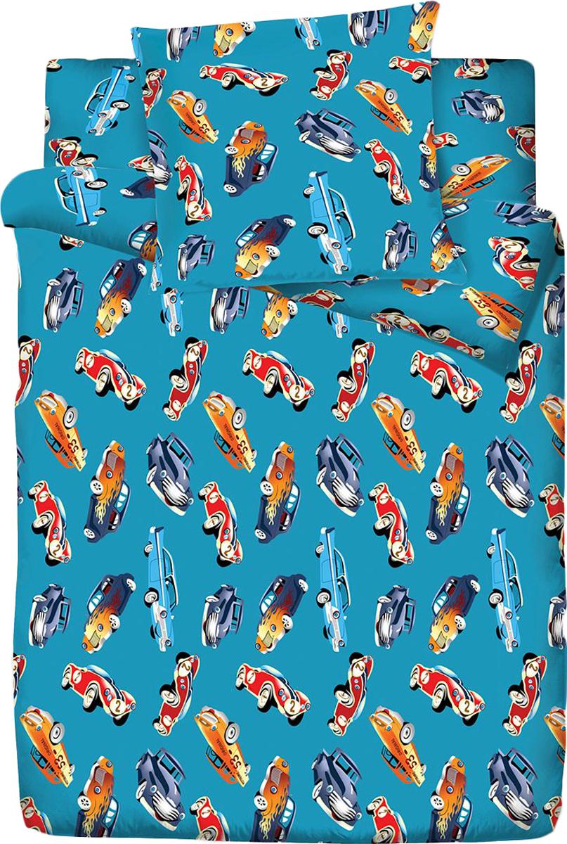 Комплект белья Браво Кидс Тачки, 1,5-спальное, наволочки 70x70, цвет: синий71675BRAVO Kids Dreams - линейка постельного белья для детей и подростков из прекрасной ткани LUX COTTON (высококачественный поплин). Это современные забавные и яркие дизайны, которые украсят любой интерьер детской комнаты и долго будут радовать своих обладателей высоким качеством и отличным внешним видом. • Равноплотная ткань из 100% хлопка; • Обработана по технологии мерсеризации и санфоризации; • Мягкая и нежная на ощупь; • Устойчива к трению; • Обладает высокими показателями гигроскопичности (впитывает влагу); • Выдерживает частые стирки, сохраняя первоначальные цвет, форму и размеры; • Безопасные красители ведущего немецкого производителя BEZEMA • Лауреат премии Золотой медвежонок