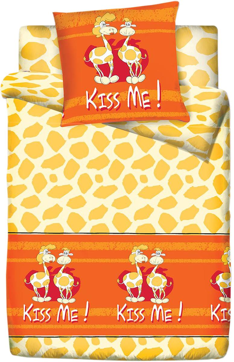 Комплект белья Браво Кидс Жираф, 1,5-спальное, наволочки 70x70, цвет: оранжевый75129BRAVO Kids Dreams - линейка постельного белья для детей и подростков из прекрасной ткани LUX COTTON (высококачественный поплин). Это современные забавные и яркие дизайны, которые украсят любой интерьер детской комнаты и долго будут радовать своих обладателей высоким качеством и отличным внешним видом. • Равноплотная ткань из 100% хлопка; • Обработана по технологии мерсеризации и санфоризации; • Мягкая и нежная на ощупь; • Устойчива к трению; • Обладает высокими показателями гигроскопичности (впитывает влагу); • Выдерживает частые стирки, сохраняя первоначальные цвет, форму и размеры; • Безопасные красители ведущего немецкого производителя BEZEMA • Лауреат премии Золотой медвежонок