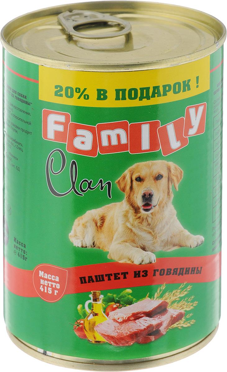 Консервы для собак Clan Family, паштет из говядины, 415 г130.1.800Полнорационный влажный корм Clan Family для каждодневного питания взрослых собак. Консервы изготовлены из высококачественного мясного сырья. У корма насыщенный вкус и сбалансированный состав. Состав: говядина, субпродукты, злаки, желирующая добавка, растительное масло, соль, вода. Анализ: сырой протеин 7%, сырой жир 5%, сырая зола 2%, поваренная соль 0,5-0,7 г, фосфор 0,5 г, кальций 0,6 г. Энергетическая ценность в 100 г продукта: 77 кКал. Товар сертифицирован. вода.