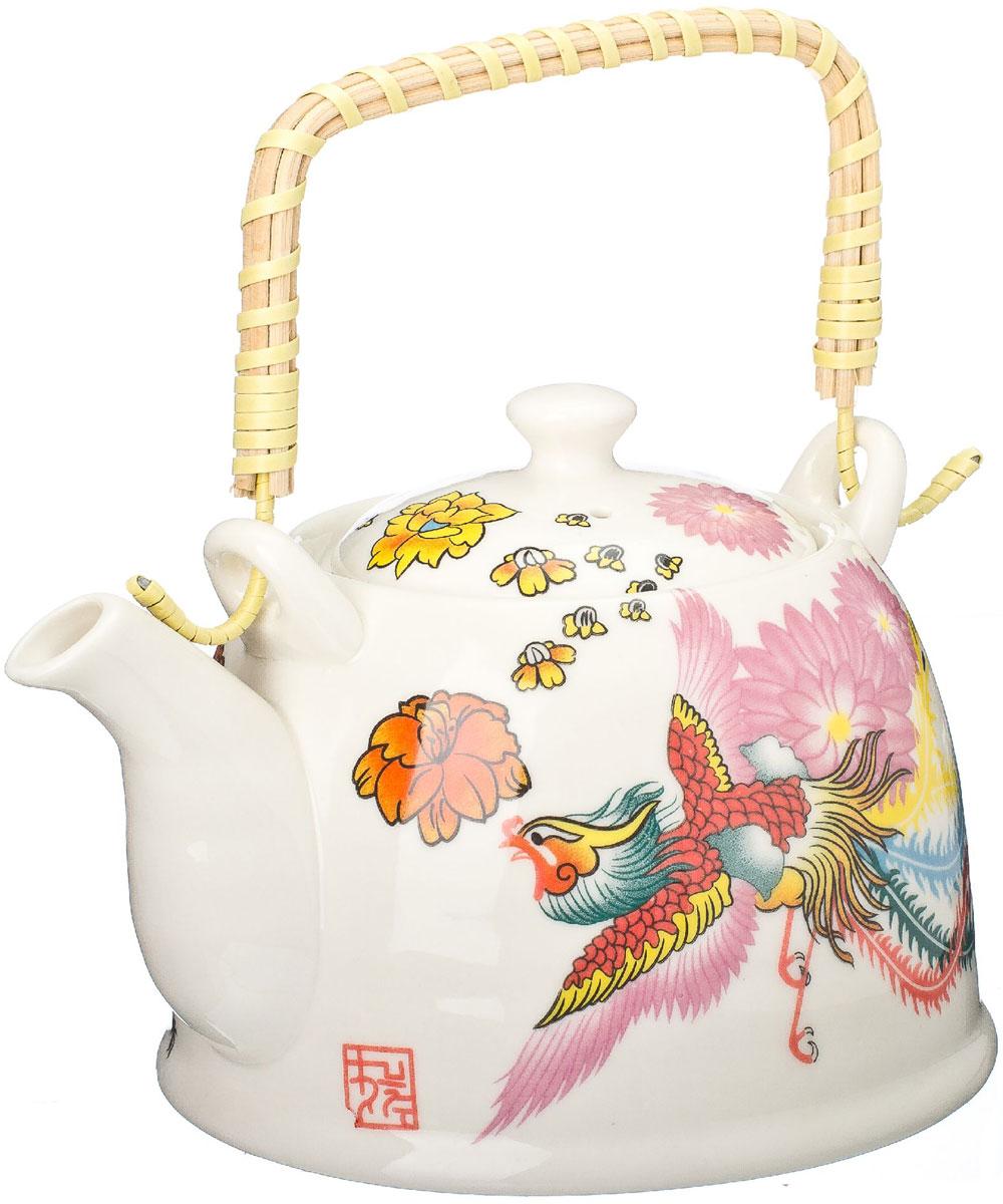Чайник заварочный Vetta Райская птица, с фильтром, 900 мл839018Украсьте свое чаепитие изысканным чайником Райская птица, декорированный красочным изображением. В чайнике имеется металлическое ситечко, ручка чайника декорирована бамбуковым волокном. В этом красивом чайнике чай получается очень насыщенным, ароматным и долго остается горячим. Упакован в подарочный короб, что может послужить отличным подарком родным и близким.