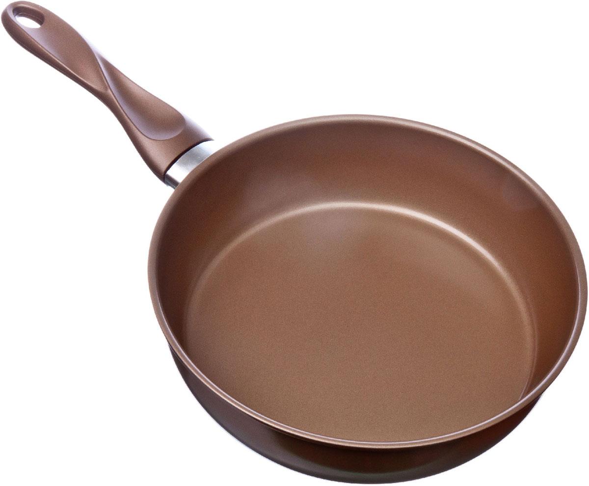 Сковорода Satoshi Millenium, глубокая, с антипригарным покрытием. Диаметр 24 см846116Сковорода SATOSHI Millenium выполнена из алюминия с антипригарным покрытием. Такое покрытие исключает прилипание и пригорание пищи к поверхности посуды, обеспечивает легкость мытья посуды, исключает необходимость использования большого количества масла, что способствует приготовлению здоровой пищи с пониженной калорийностью. Сковорода оснащена крышкой и удобной пластиковой ручкой. Сковорода подходит для всех видов плит, в том числе индукционных. Также ее можно мыть в посудомоечной машине.