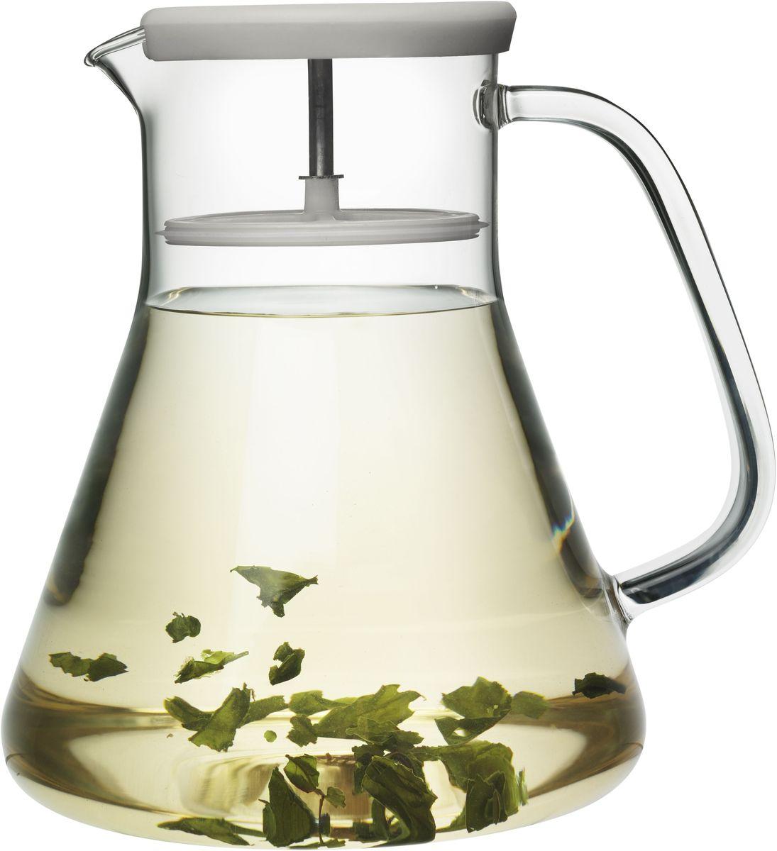 Чайник заварочный QDO Dancing Leaf, цвет: зеленый567366Универсальный стеклянный кувшин с встроенным фильтром. Идеален для подачи холодных лимонадов, ягодных морсов, чая и других подобных напитков. Благодаря фильтру кусочки льда, фруктов, ягод, мяты и чайных листьев не попадут в чашку. Кроме того, кувшин изготовлен из термоустойчивого боросиликатного стекла, что позволяет заваривать чай прямо внутри него. Просто поместите в кувшин нужное количество чая, залейте горячей водой и дайте настояться. Фильтр соединен с силиконовой крышкой и легко вынимается при необходимости. Объем кувшина - 1,2 л. Можно мыть в посудомоечной машине.