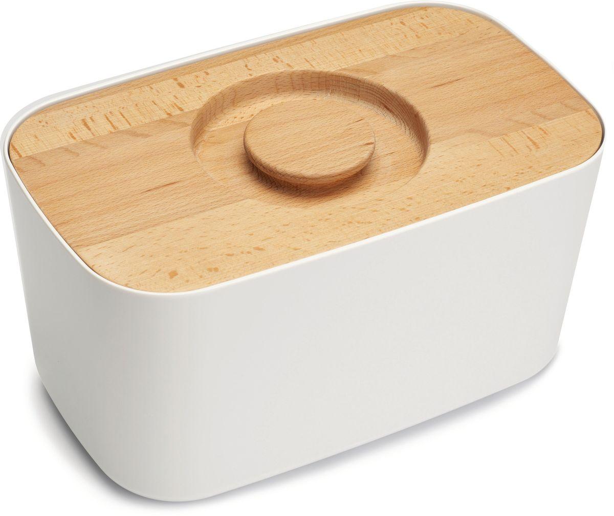 Хлебница Joseph Joseph , с разделочной доской. 8004180041Хлебница изготовлена из 100% меламина, а крышка – из высококачественного натурального дерева. Благодаря материалу, из которого изготовлена хлебница, батоны и багеты подолгу остаются свежими и не впитывают в себя посторонние запахи. Кроме того, такую хлебницу очень легко мыть, а сам материал исключает появление трещин и царапин на поверхности изделия. Крышку можно также использовать как доску для резки – эта удобная задумка помогает сэкономить пространство на кухне. Специальные углубления внутри доски не позволят хлебным крошкам высыпаться на рабочую поверхность. Основу можно мыть в посудомоечной машине. Для крышки рекомендовано только ручное мытье и сушка.