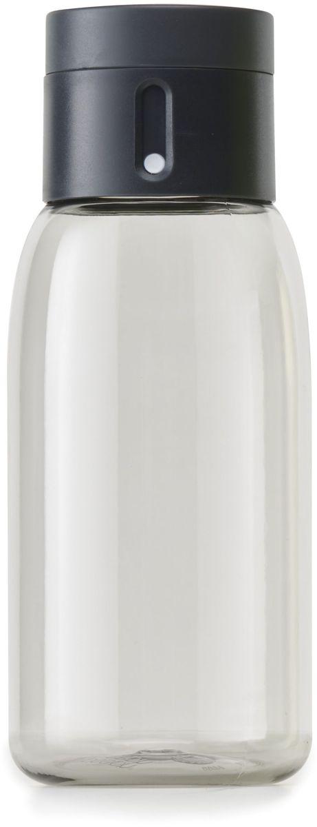 Бутылка для воды Joseph Joseph Dot, цвет: серый, 400 мл81054Уникальная бутылка Dot в новом компактном размере. Инновационное решение для контроля ежедневного потребление воды без использования электронных гаджетов. Крышка со счетчиком фиксирует каждое наполнение бутылки в течение дня. Просто закрутите крышку до появления точки, а для питья используйте верхнюю крышку. Новая точка появится каждый раз, когда бутылка заново заполнена и крышка закручена. Из гладкого литого носика бутылки удобно пить даже на ходу или в машине. Широкое горлышко идеально для насыпания льда или фруктов и мытья. Герметичная крышка надежно защищает содержимое от протекания. Бутылка изготовлена из экологичного и удапрочного материала Tritan. Объем - 400 мл.