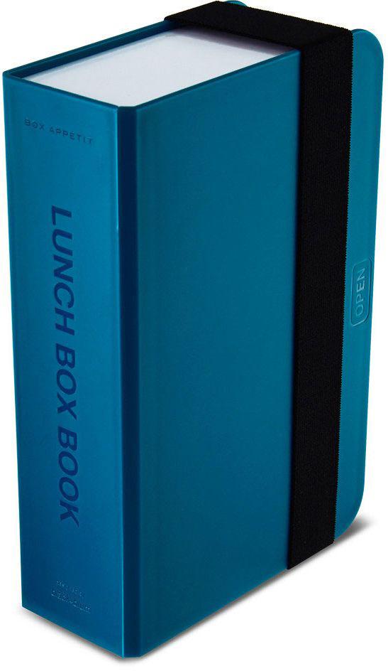 Ланч-бокс Black+Blum Box Book, цвет: бирюзовый, 6,8 х 22,5 х 15BK-LB005Оригинальный ланч-бокс в виде книги. Вместительный контейнер позволяет брать с собой не только еду, но и небольшую бутылку любимого напитка. Во внутренней части предусмотрен съемный пластиковый разделитель, который необходим для разграничения порций или видов пищи. Скругленная форма углов придает дизайну дополнительную изюминку - такой необычный ланч-бокс станет хорошим подарком для всех ценителей здорового образа жизни. Изделие дополнено эластичным держателем, плотно фиксирующим крышку и лоток. Модель изготовлена из полипропилена, в составе отсутствуют вредные BPА. Крышка бокса откидывается, ее можно использовать в качестве тарелки или подставки для еды.