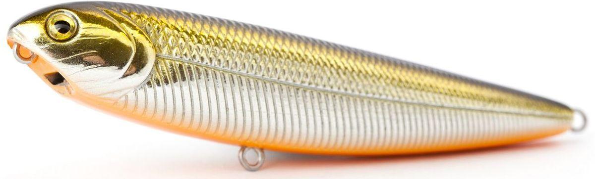 Воблер плавающий Atemi Sugar Pencil, цвет: Gold Shad, длина 10 см, вес 10 г513-00014Воблер ATEMI Sugar Pencil, Gold Shad, плавающий, 10 см Воблер ATEMI Sugar Pencil, Gold Shad, плавающий, 10 см является наилучшей приманкой как для троллинга, так и для ловли в заброс. Он также хорошо работает при ловле рыбы против течения. Проводите Воблер ATEMI Blue Shad, Gold Shad, по более глубоким местам, в местах сбора кормовой базы хищних рыб. Во время максимальной активности рыб, лучше брать ярко окрашенную приманку, которая будет выделяться в толще воды и сразу бросится хищнику в глаза. Если у хищника плохой аппетит, то расцветка должна быть максимально близкой к расцветке кормовой рыбы. арт. 513-00014 Воблер ATEMI Sugar Pencil цвет Gold Shad, размер: 10 см вес 10 г Материал:пластиктип плавающий Производитель: Атеми Рекомендуется для ловли – щуки, окуня, форели, басса, язя, голавля, желтоперого судака, жереха.