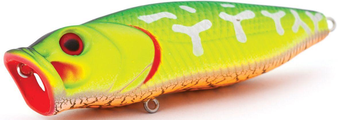 Воблер плавающий Atemi Crazy Pop, цвет: Fire Tiger, длина 8 см, вес 16 г513-00025Воблер ATEMI Crazy Pop Fire Tiger артикул: 513-00025 Производитель: Атеми Для озер и водохранилищ, воблер ATEMI Crazy Pop Fire Tiger является наилучшей приманкой как для троллинга, так и для ловли в заброс. Воблер ATEMI Crazy Pop Fire Tigerплавающий. Рекомендуется для ловли – щуки, окуня, форели, басса, язя, голавля, желтоперого судака, жереха. Она также хорошо работает при ловле рыбы против течения, проводите приманку по более глубоким местам, там, где чаще стоят в засаде более крупные экземпляры. Необходимое условие для ловли на ATEMI Crazy Pop Fire Tiger – чтобы Вы использовали правильно подобранную снасть: легкий и чувствительный спиннинг, крошечные застежки и вертлюжки, самую тонкую леску, которой сможете управлять приманкой, чтобы обеспечить ей наилучшую работу. Материал: пластик. Расцветка: Fire Tiger Длина: 80 мм. Вес: 16 г. Эта приманка превосходна для ловли рыбы, если ее забрасывать вверх по течению, только обеспечивайте скорость...