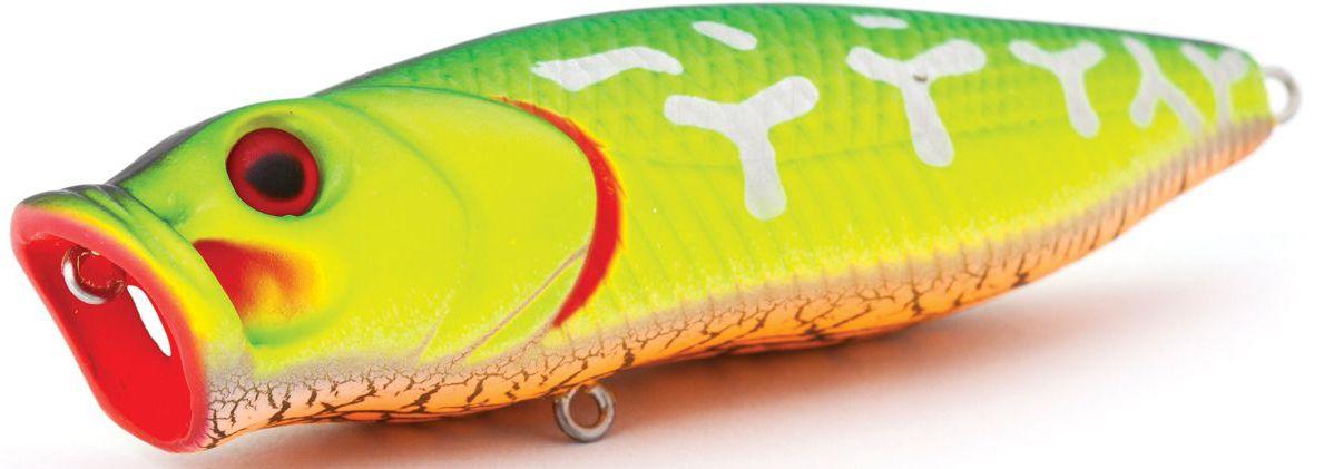 Воблер плавающий Atemi Crazy Pop, цвет: Fire Tiger, длина 11,5 см, вес 29 г513-00028Воблер ATEMI Crazy Pop Fire Tiger 29см артикул: 513-00028 Производитель: Атеми Для озер и водохранилищ, воблер ATEMI Crazy Pop Fire Tiger 29см является наилучшей приманкой как для троллинга, так и для ловли в заброс. Воблер ATEMI Crazy Pop Fire Tiger 29см плавающий. Рекомендуется для ловли – щуки, окуня, форели, басса, язя, голавля, желтоперого судака, жереха. Она также хорошо работает при ловле рыбы против течения, проводите приманку по более глубоким местам, там, где чаще стоят в засаде более крупные экземпляры. Необходимое условие для ловли на ATEMI Crazy Pop Fire Tiger 29см – чтобы Вы использовали правильно подобранную снасть: легкий и чувствительный спиннинг, крошечные застежки и вертлюжки, самую тонкую леску, которой сможете управлять приманкой, чтобы обеспечить ей наилучшую работу. Материал: пластик. Расцветка: Fire Tiger Длина: 115 мм. Вес: 29 г. Эта приманка превосходна для ловли рыбы, если ее забрасывать вверх по течению, только...