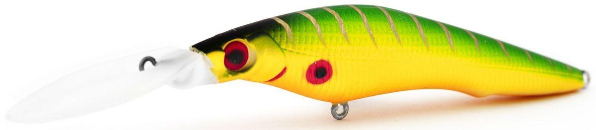 Воблер плавающий Atemi Deep Black Widow, цвет: Fire Tiger, длина 9 см, вес 13,8 г, заглубление 4,5 м513-00142Воблер ATEMI Deep Black Widow, цв. Fire Tiger, плавающий, 90мм, вес 13.8г, заглуб. 4,5м артикул: 513-00142 Производитель: Атеми Рекомендуется для ловли – щуки, окуня, форели, басса, язя, голавля, желтоперого судака, жереха. Необходимое условие для ловли на Deep Black Widow – чтобы Вы использовали правильно подобранную снасть: легкий и чувствительный спиннинг, крошечные застежки и вертлюжки, самую тонкую леску, которой сможете управлять приманкой, чтобы обеспечить ей наилучшую работу. Характеристики Воблер ATEMI Deep Black Widow, цв. Fire Tiger, плавающий, 9см Материал: пластик. Расцветка: Fire Tiger Длина: 90мм. Вес: 13,8 г. Рабочая глубина: 4,5 м. Она также хорошо работает при ловле рыбы против течения, проводите приманку по более глубоким местам, там, где чаще стоят в засаде более крупные экземпляры. Эта приманка превосходна для ловли рыбы, если ее забрасывать вверх по течению, только обеспечивайте скорость проводки немного быстрее,...