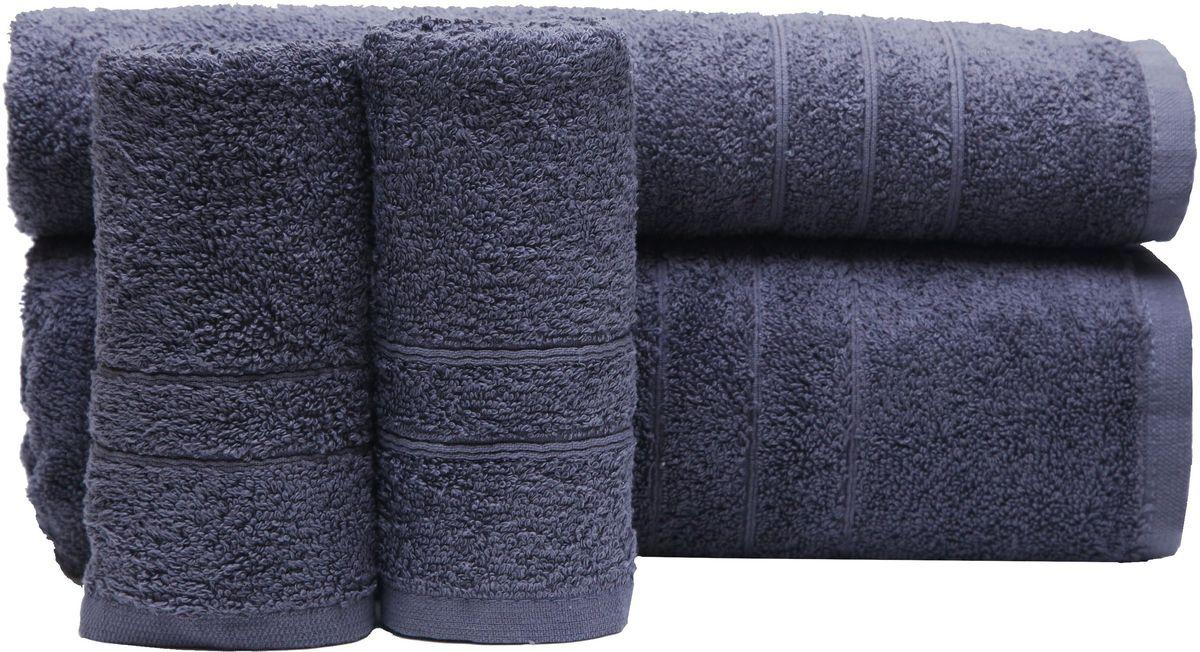 Набор полотенец Proffi Home, цвет: серый, 4 шт. PH8394PH8394_greyПри изготовлении махровых полотенец используется качественный 100 % хлопок. Махровые полотенца будут приятным добавлением в интерьере ванной комнаты. Мягкое махровое полотенце отлично впитывает влагу и быстро сохнет, детям приятно в него завернуться после принятия ванны или посещения сауны. Набор их 4 махровых полотенец разных размеров (70*140, 50*100, 30*50 - 2 шт) будет отличным подарком на любой праздник.
