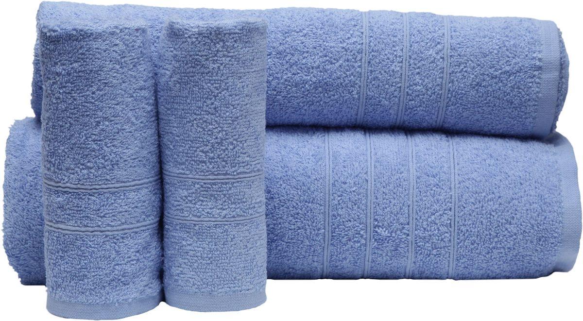 Набор полотенец Proffi Home, цвет: голубой, 4 шт. PH8394PH8394_light_blueПри изготовлении махровых полотенец используется качественный 100 % хлопок. Махровые полотенца будут приятным добавлением в интерьере ванной комнаты. Мягкое махровое полотенце отлично впитывает влагу и быстро сохнет, детям приятно в него завернуться после принятия ванны или посещения сауны. Набор их 4 махровых полотенец разных размеров (70*140, 50*100, 30*50 - 2 шт) будет отличным подарком на любой праздник.