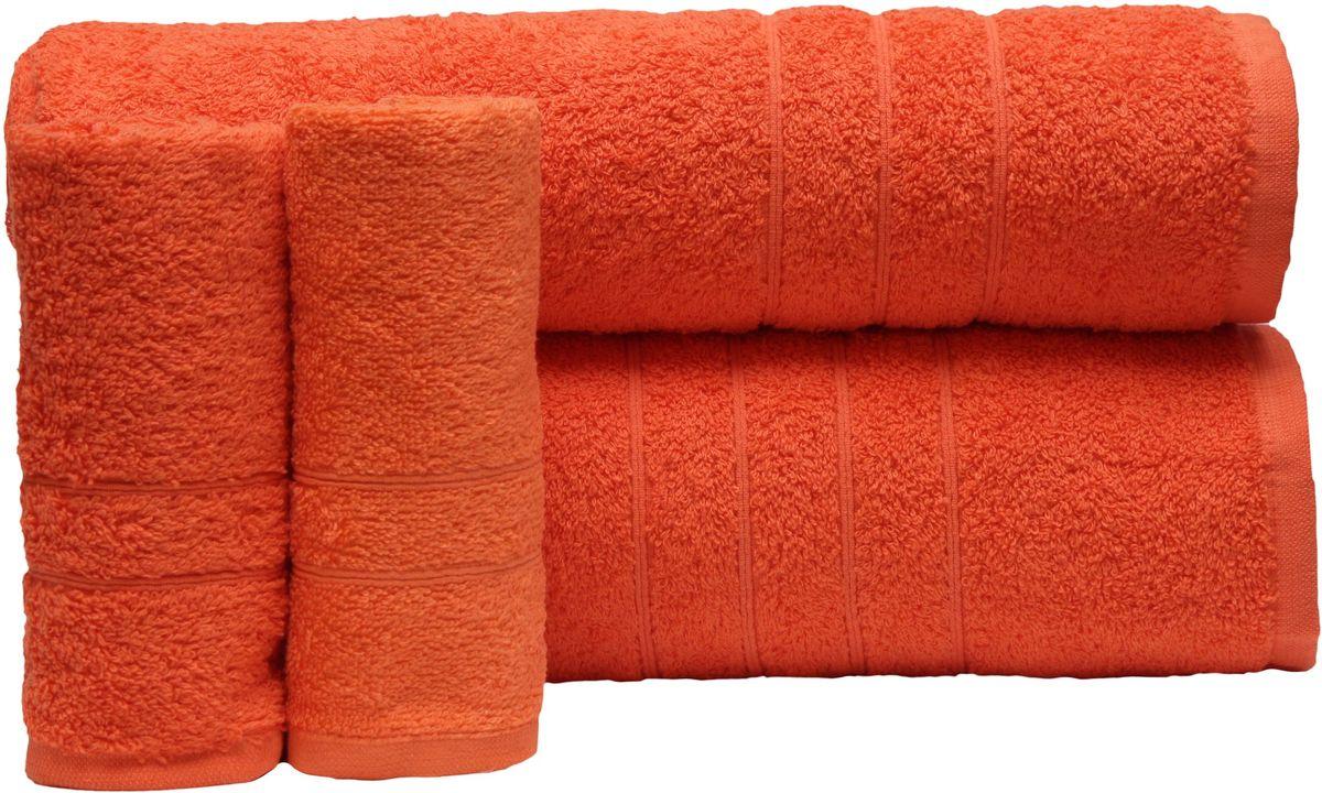 Набор полотенец Proffi Home, цвет: оранжевый, 4 шт. PH8394PH8394_orangeПри изготовлении махровых полотенец используется качественный 100 % хлопок. Махровые полотенца будут приятным добавлением в интерьере ванной комнаты. Мягкое махровое полотенце отлично впитывает влагу и быстро сохнет, детям приятно в него завернуться после принятия ванны или посещения сауны. Набор их 4 махровых полотенец разных размеров (70*140, 50*100, 30*50 - 2 шт) будет отличным подарком на любой праздник.