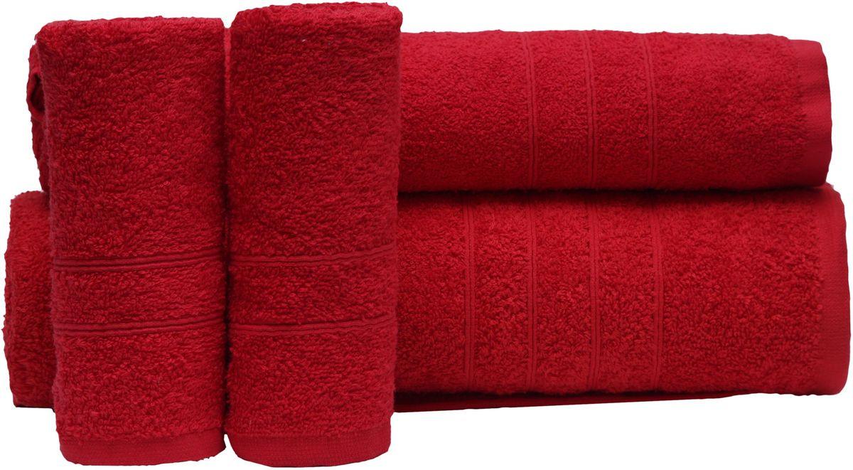Набор полотенец Proffi Home, цвет: красный, 4 шт. PH8394PH8394_redПри изготовлении махровых полотенец используется качественный 100 % хлопок. Махровые полотенца будут приятным добавлением в интерьере ванной комнаты. Мягкое махровое полотенце отлично впитывает влагу и быстро сохнет, детям приятно в него завернуться после принятия ванны или посещения сауны. Набор их 4 махровых полотенец разных размеров (70*140, 50*100, 30*50 - 2 шт) будет отличным подарком на любой праздник.