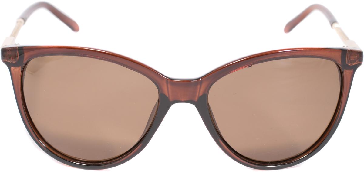 Очки солнцезащитные Mitya Veselkov, цвет: коричневый. OS-228OS-228Прекрасные антибликовые очки Mitya Veselkov, станут прекрасным и стильным аксессуаром для вас и защитят от УФ лучей. Они помогут глазу более четко распознать картинку, засвеченную солнечными лучами, при этом скорректируют все возникшие искажения.