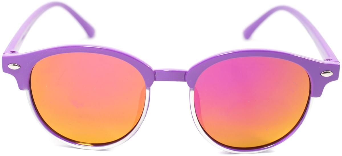 Очки солнцезащитные детские Mitya Veselkov, цвет: фиолетовый. OS-194OS-194Прекрасные антибликовые очки Mitya Veselkov, станут прекрасным и стильным аксессуаром для вашего ребенка и защитят его от УФ лучей. Они помогут глазу более четко распознать картинку, засвеченную солнечными лучами, при этом скорректируют все возникшие искажения.