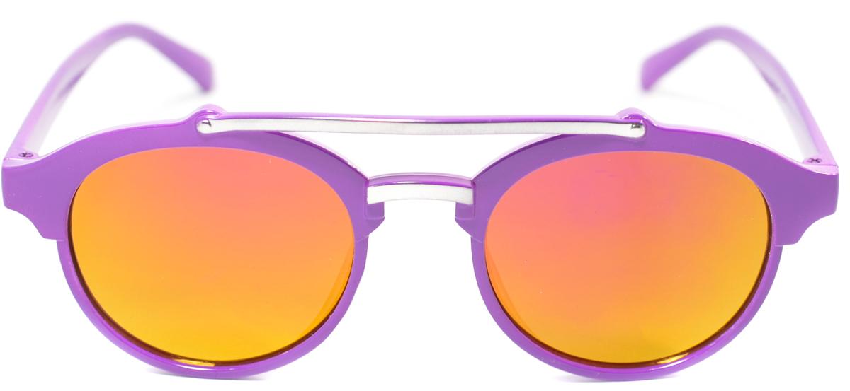 Очки солнцезащитные детские Mitya Veselkov, цвет: фиолетовый. OS-204OS-204Прекрасные антибликовые очки Mitya Veselkov, станут прекрасным и стильным аксессуаром для вашего ребенка и защитят его от УФ лучей. Они помогут глазу более четко распознать картинку, засвеченную солнечными лучами, при этом скорректируют все возникшие искажения.